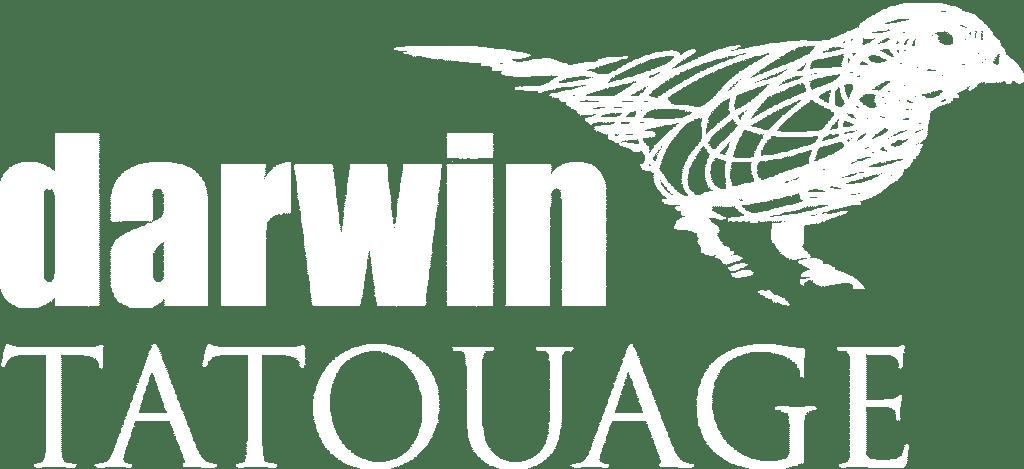 Logo Darwin tatouage blanc